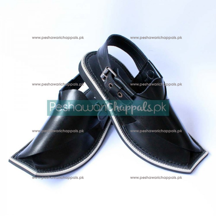 Completely Hand-crafted Brown Charsadda Chappal