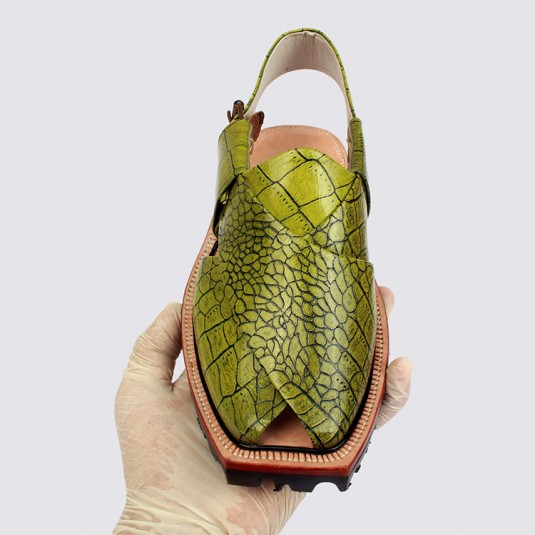 Parit Color Crocodile Leather Norozi Chappal