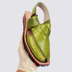 Handmade Parit Crocodile Leather Norozi Chappal
