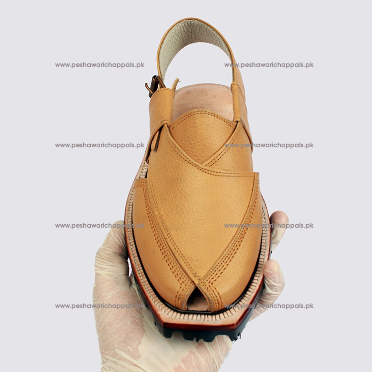 Handmade Skin Color Leather Norozi Chappal