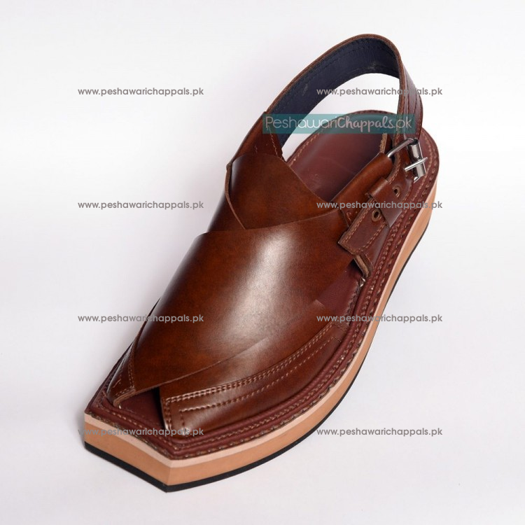 Handmade Mustard Kaptaan Leather Chappal With Light Weight