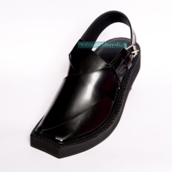 Handmade Black Kaptaan Chappal With Light Weight