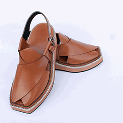 Traditional Luxurious Hand Stitched Tan Kaptaan Chappal
