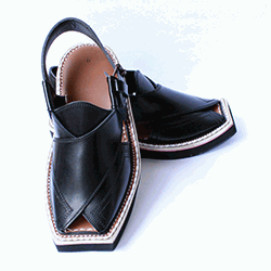 Traditional Comfortable Charsadda Black Kaptaan Chappal