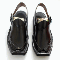 Realistically Priced Traditional and Comfortable Black Kaptaan Chappal