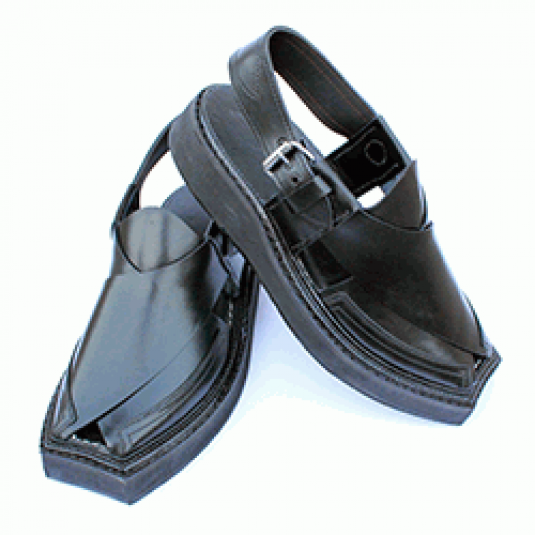 Top Quality Completely Hand Stitched Black Kaptaan Chappal