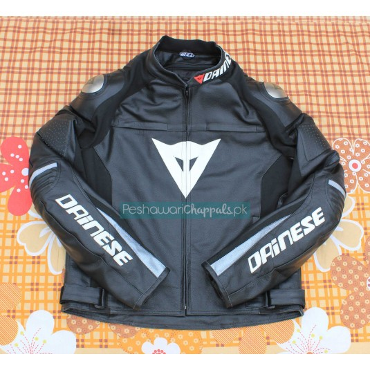 Handmade Black Motorcycle Biker Leather Jacket for Men