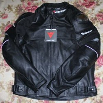Handmade Motorcycle Biker Black Leather Jacket