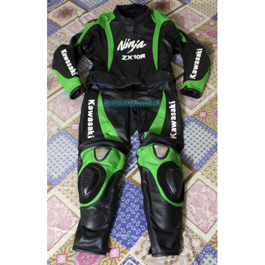 Handmade Black Motorcycle Biker Leather Suit for Men