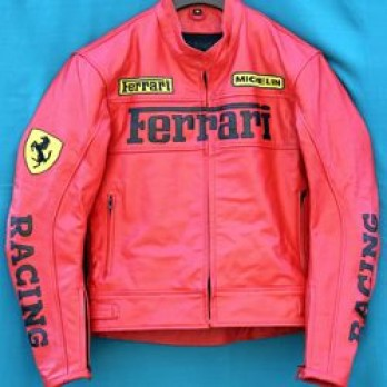 Handmade Red Motorcycle Biker Leather Jacket