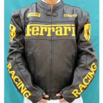 Handmade Yellow and Black Motorcycle Biker Leather Jacket