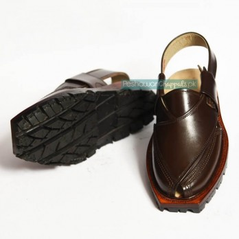 Chocolate Brown Quetta Norozi Chappal