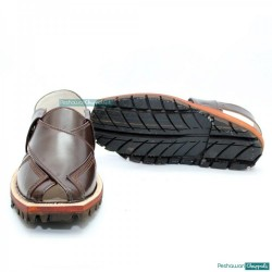 China Cut Brown Quetta Norozi Chappal