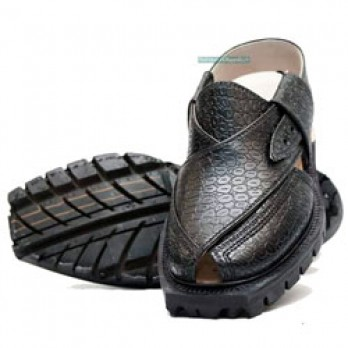 Traditional Quetta Norozi Chappal in Crocodile with Double Sole