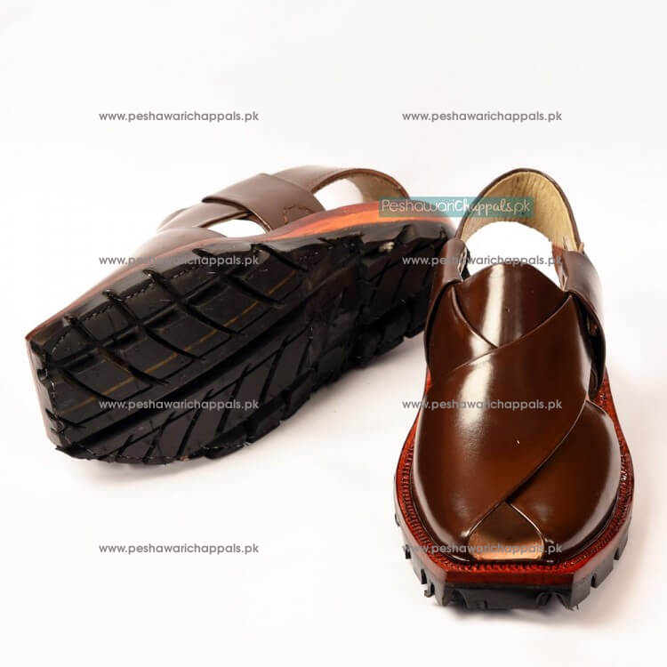 Rich Brown Quetta Norozi Chappal with Double Sole