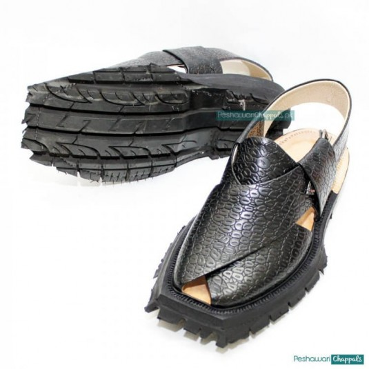 Traditional Handmade Crocodile Shikari Quetta Chappal with Double Sole