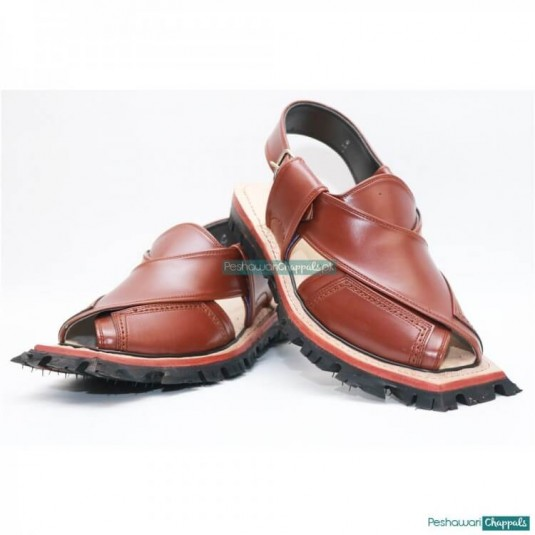 Traditional Quetta Norozi Mustard Shikari Chappal with Double Sole