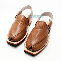 Hand Crafted Crocodile Quetta Norozi Chappal with Double Sole