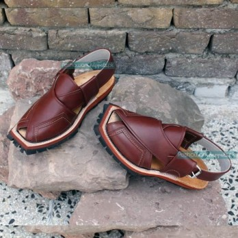 Hand Crafted Mustard Quetta Shikari Norozi Chappal with Double Sole