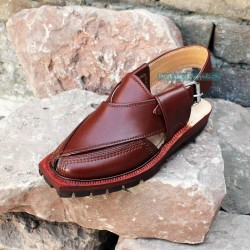 Hand Crafted Mustard Quetta Norozi Chappal with Double Sole