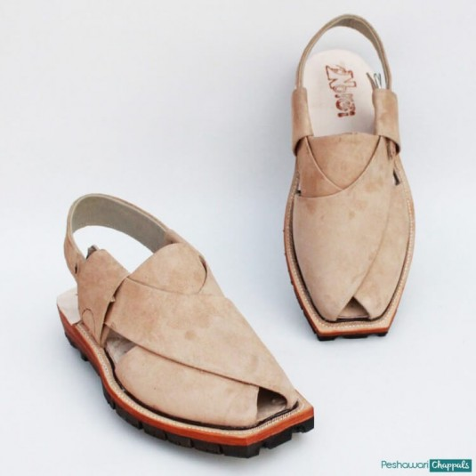 Hand Stitched Suede Quetta Norozi Chappal with Double Sole