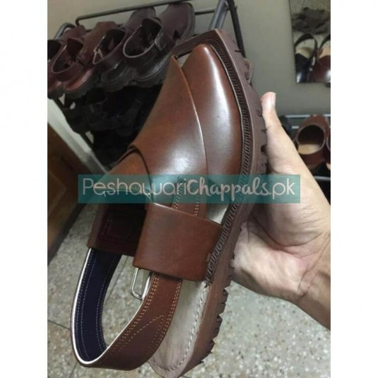 Hand Crafted Quetta Norozi Mustard Leather Chappal