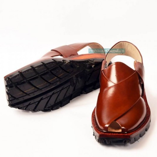 Hand-Crafted Mustard Quetta Norozi Chappal with Double Sole