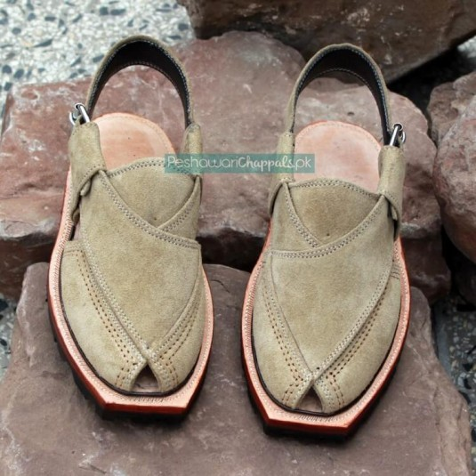 Handmade Norozi Suede Leather Chappal with Double Sole