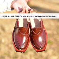 Handmade Mustard Norozi Leather Chappal with Double Tire Sole