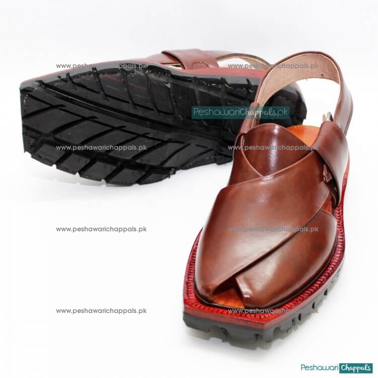 Handmade Quetta Norozi Chappal with High Shine and Double Sole
