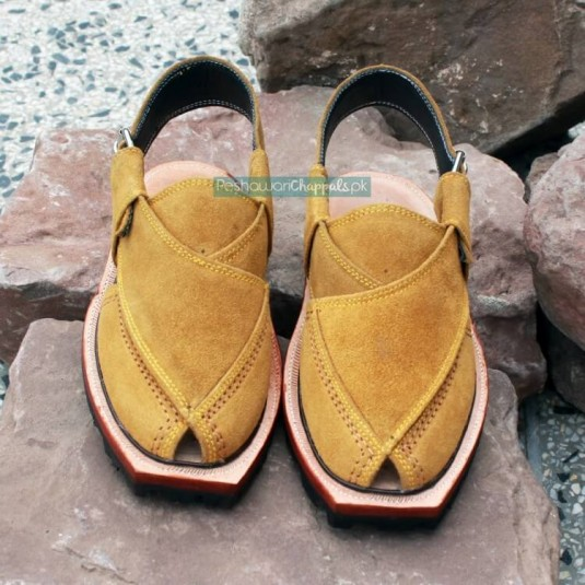 Handmade Suede Leather Norozi Chappal with Double Sole