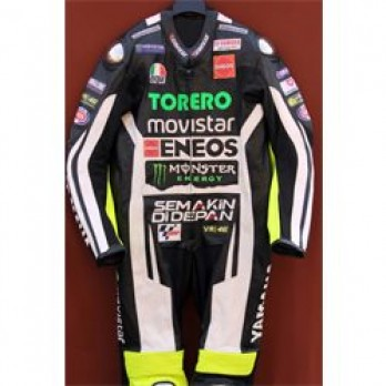 Handmade Yamaha Torero Motorcycle Biker Leather Suit