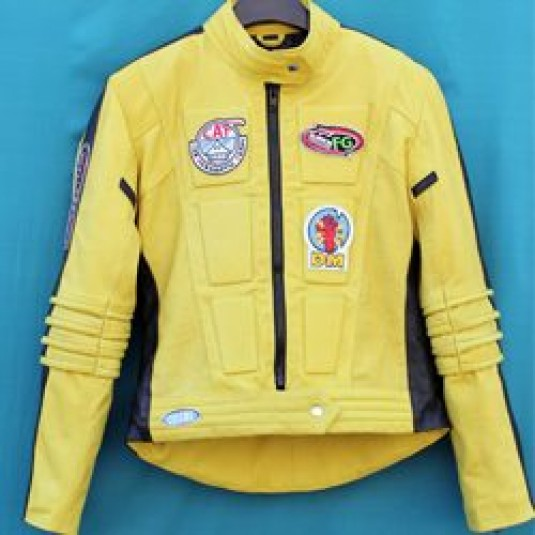 Movie Kill Bill Leather Motorcycle Jacket for Women